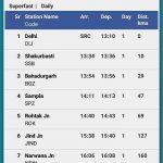 IRCTC train schedule