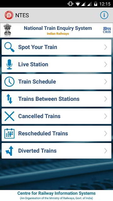 NTES National train Enquiry system app download