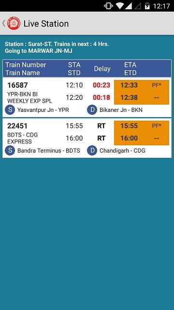 available trains