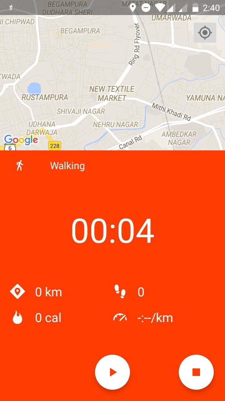 google fit activity