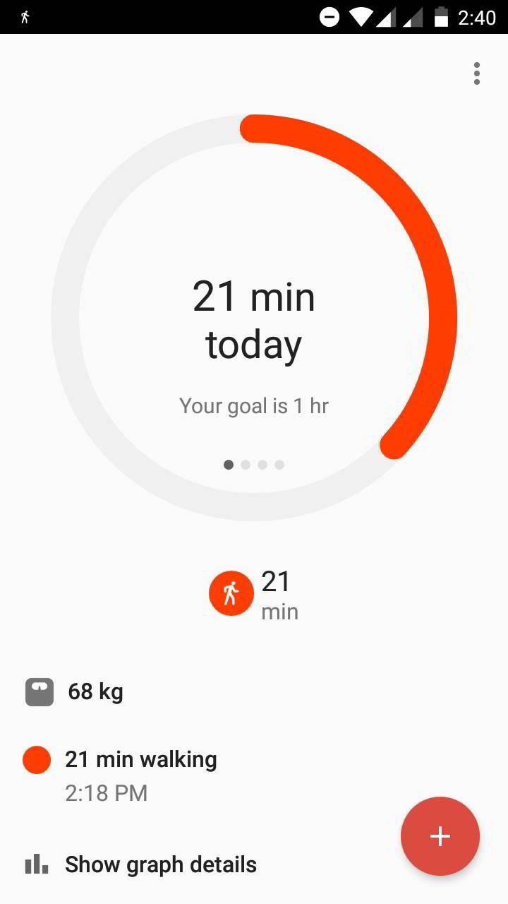 google fit dashboard