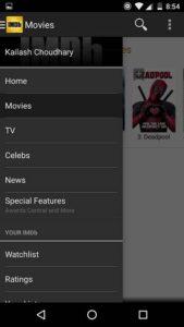 imdb menu