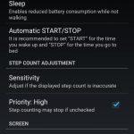 free pedometer app settings