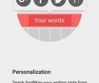 swiftkey personalization