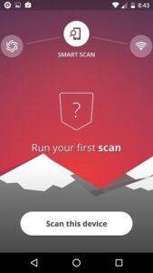avast scan virus