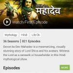 hotstar tv shows watch devon ke dev mahadev