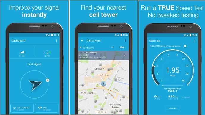 OpenSignal - best internet speedtest app