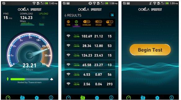 speedtest broadband internet speed test phone