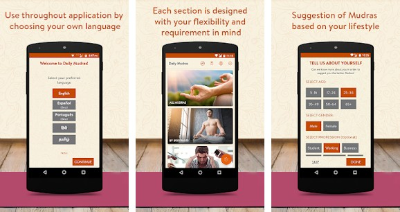 Daily Mudras - best yoga apps for Android