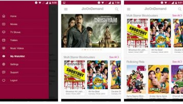 JioOnDemand : watch movies and videos online