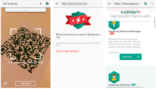 kaspersky qr scanner app for Android