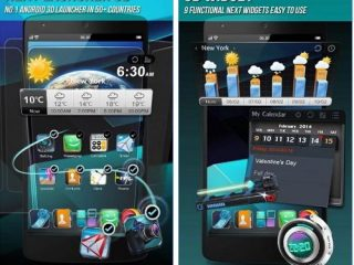 Best 3d launchers for Android with excellent effects