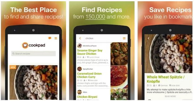 Best recipe apps for android and iphone 2017 cookpad recipe app for android and iphone forumfinder Images
