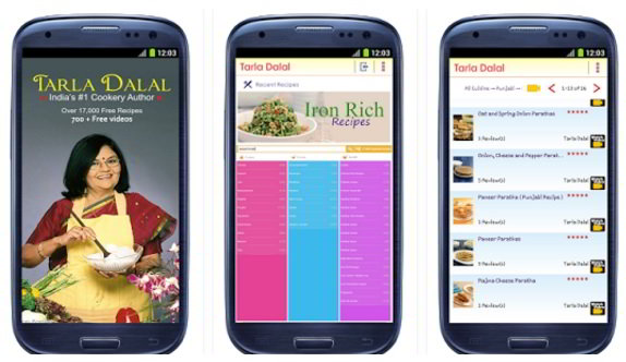tarla dalal recipes app