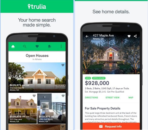 trulia best real estate apps 2017