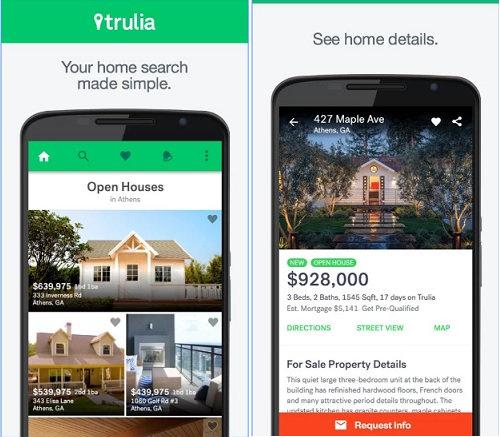 trulia best real estate apps
