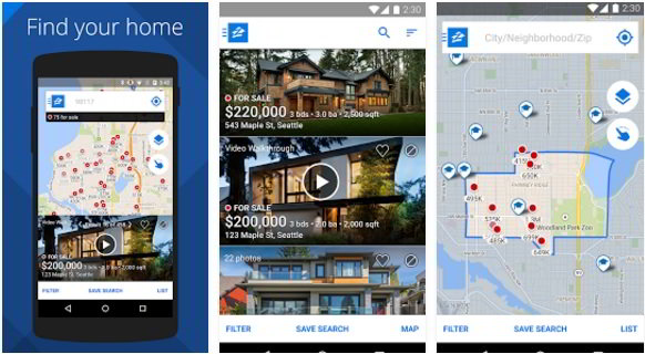 free zillow real estate app