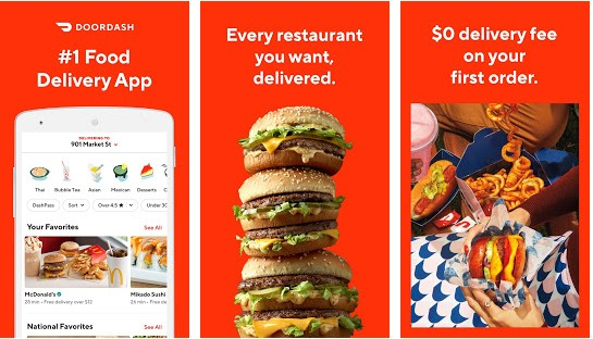 DoorDash - best food ordering apps for Android and iOS