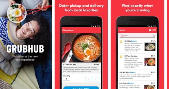GrubHub: best food ordering apps