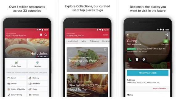 Zomato: top food ordering apps