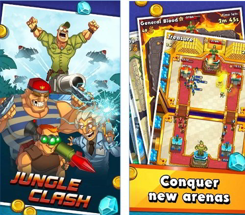 jungle clash : best games like clash royale