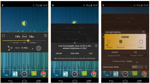 lux lite battery saver app for Android