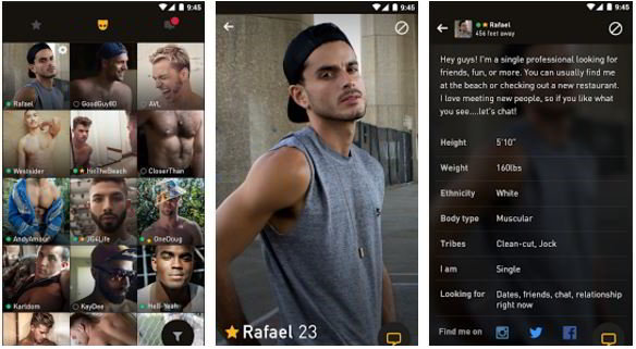 Gay dating app grindr