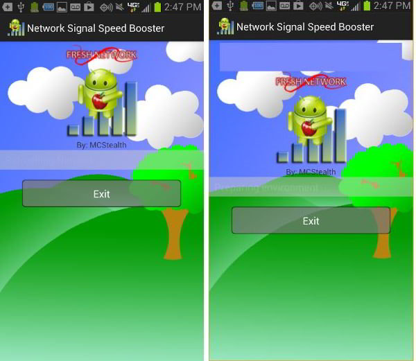 network signal speed booster app for Android