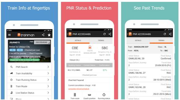 Best indian railway apps for android, iphone & windows phone.