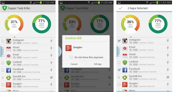 zapper best task manager app killers for Android