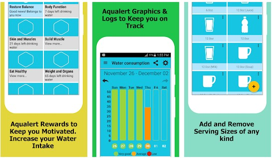 Aqualert - best water tracking apps for Android