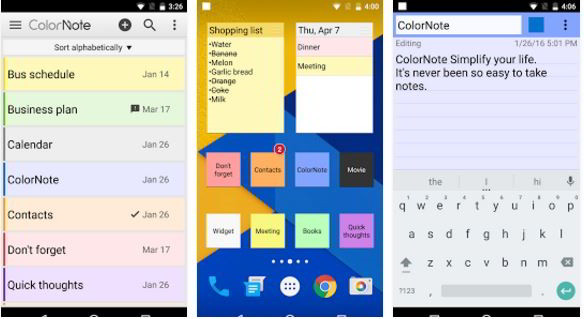 colornote : best notes app for Android