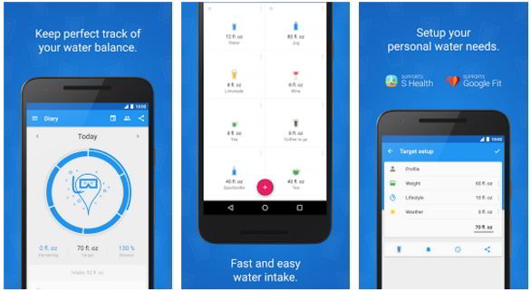 hydro coach - best water drinking app for Android