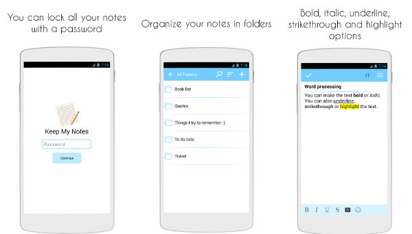 Keep My Notes app