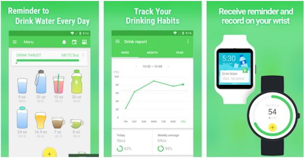water drinking reminder app Android