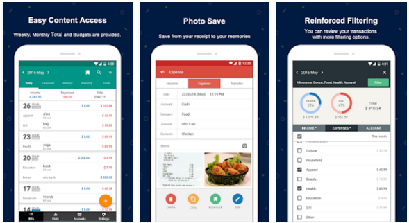 best budget apps for android to track spendings and manage expenses  2018