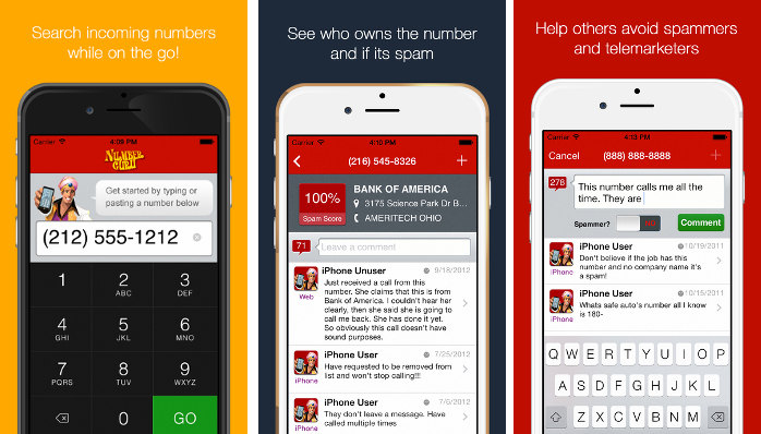 numbers guru - find whose number is this iPhone Android iPad