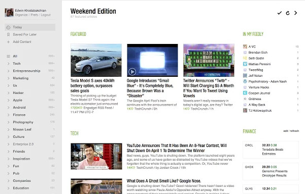 feedly - best apps for Chrome OS