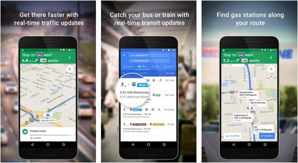 google maps - best Android Navigations apps iPhone 2016