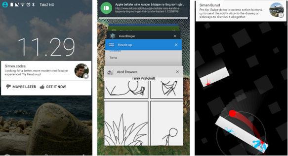heads-up notifications app