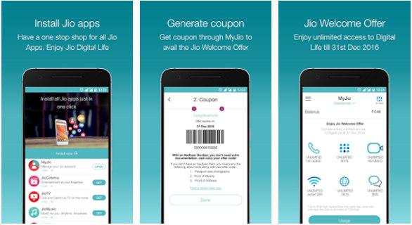 myjio - best jio barcode generator app 2016