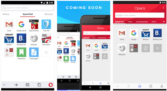 opera - best browser apps 2016