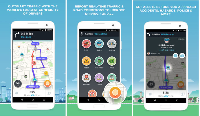waze - best navigation apps Android iPhone 2016