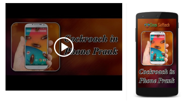 cockroach in phone prank app