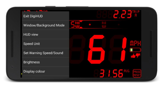 DigiHUD best speedometer app for Android