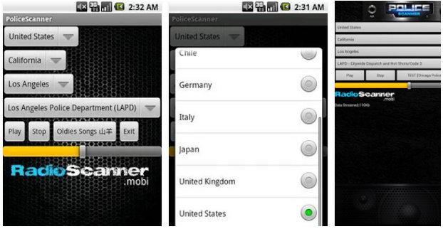 police scanner radio scanner app