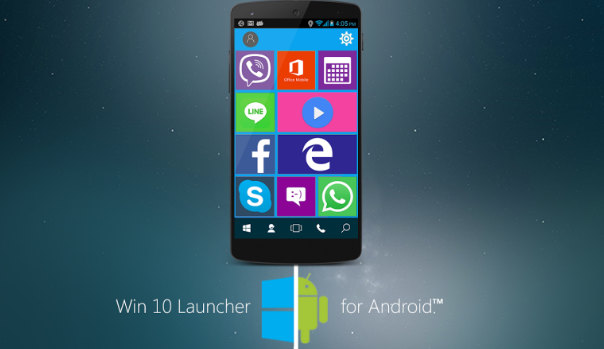 win10 launcher for Android