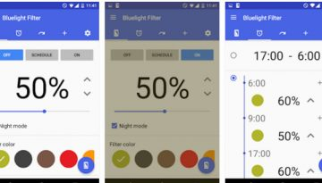 bluelight filter for eye care - best night mode apps 2016