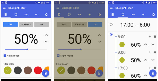 bluelight filter for eye care - best night mode apps 2017