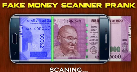 fake money scanner prank app